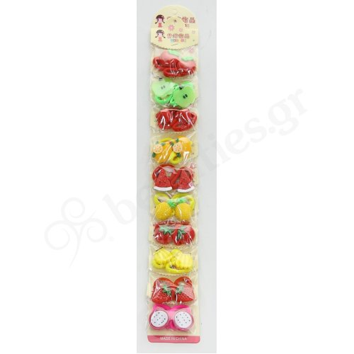 ELASTIC BANDS WITH SMALL FRUITS