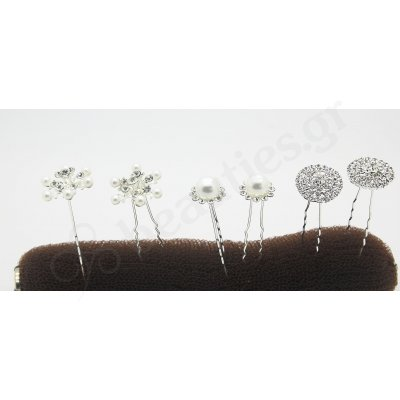PEARL-STRASS HAIRPINS