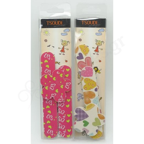 3PCS KIDS CARTON NAIL FILES