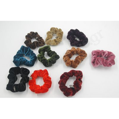 SMALL VELVETEEN SCRUNCHIE MIXED COLORS