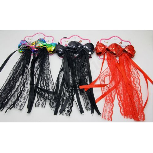 DOUBLE ELASTIC BANDS WITH SPANGLY BOW