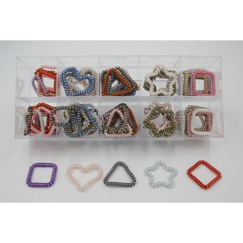 THIN SPIRAL ELASTIC BANDS IN MIXED DESIGNS