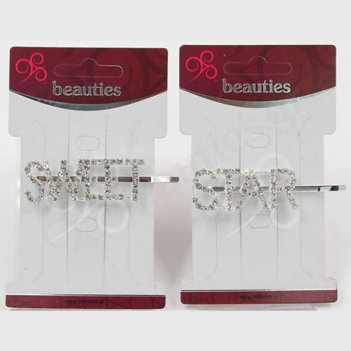 DIAMOND LETTERS BOBBY PINS