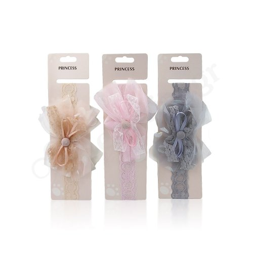 TULLE HEADBAND WITH BUTTON
