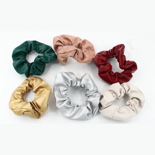 HAIR SCRUNCHIE LEATHER DESIGN