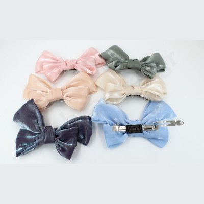 LARGE ORGANZA BOW BARRETTE HAIR CLIP