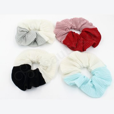 TWO COLORS HAIR SCRUNCHIE